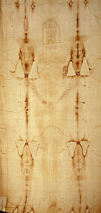 Dorsal view of the Shroud